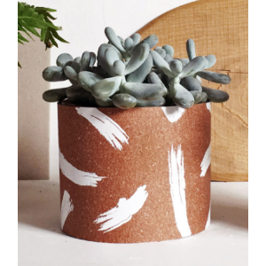 Cache Pot Brushed en cuir...