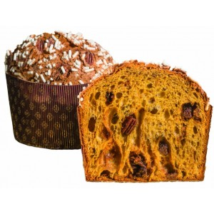 Nut and caramel panettone...