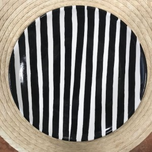 Bold Striped Plate