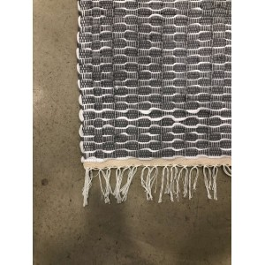 Grey and white Egyptian carpet