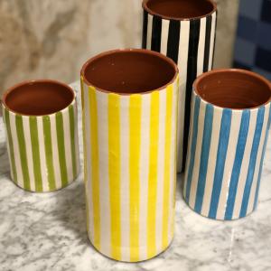 Grand Vase Bold Rayé