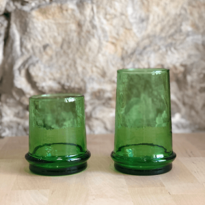 Green Tourmaline Glass