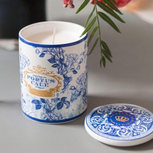 Portus Cale Gold Candle - Blue