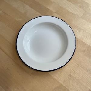 Petite Assiette émail blanc...