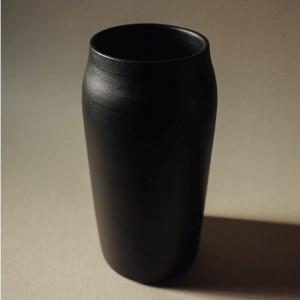 Grand vase évasé noir