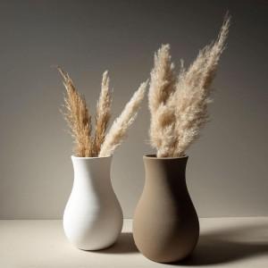 Grand Vase blanc courbe
