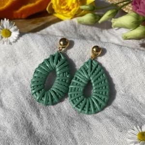 Boucles d'Oreille Spring Vert