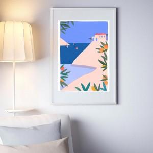 Affiche Encadrée Riviera -...