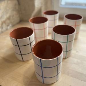 Large Vase Quadrillé