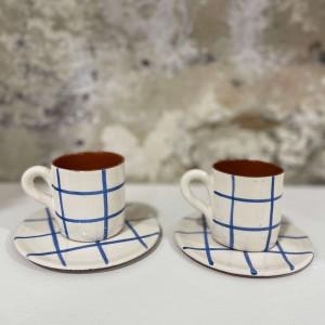 Duo Tasses Quadrillées