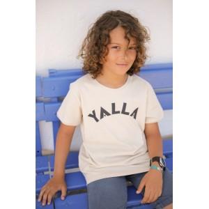 T-shirt Enfant Yalla Ecru