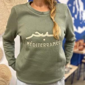 Sweat Mer Mediterranée Kaki...