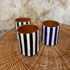 Petit Vase Bold Rayé