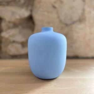 Petit Vase Bleu Arrondi