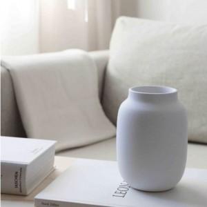Petit vase blanc évasé